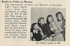 Ozzie & Harriet Nelson with Sons Ricky & David, 1950