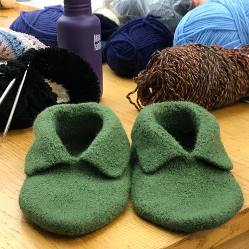 Mary Jane's felted Elf Slippers