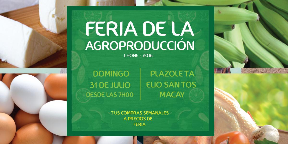 Unión de asociaciones agropecuarias y GADM Chone preparan segunda feria productiva