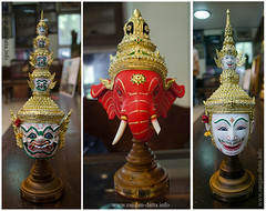Khon Dance Mask at Bhutesavara, Thailand