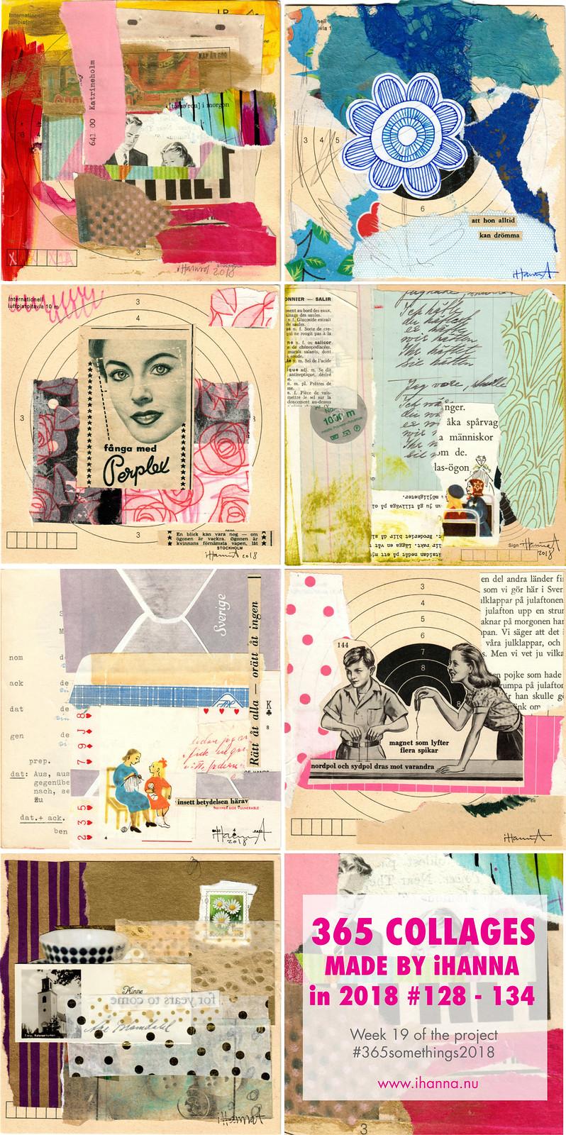 iHannas 365 Collages Week 19 in 2018: Looking back on past collage weeks #365somethings2018