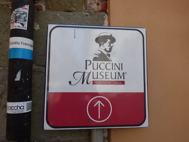 Photo:Puccini Museum - Piazza Cittadella, Lucca - sign By ell brown