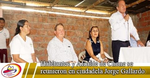 Habitantes y Alcalde de Chone se reunieron en ciudadela Jorge Gallardo