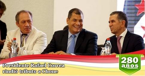 Presidente Rafael Correa rindió tributo a Chone