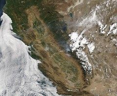 Northern and Central California with Yosemite Fire