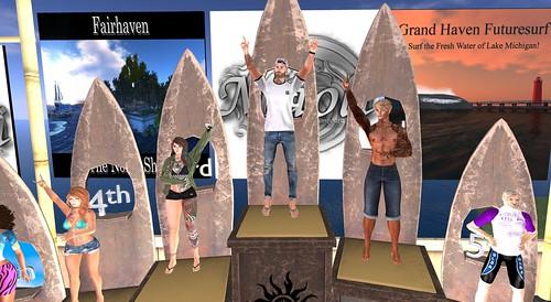 SLSA Bundy Reef SSI Shortboard Competition Podium