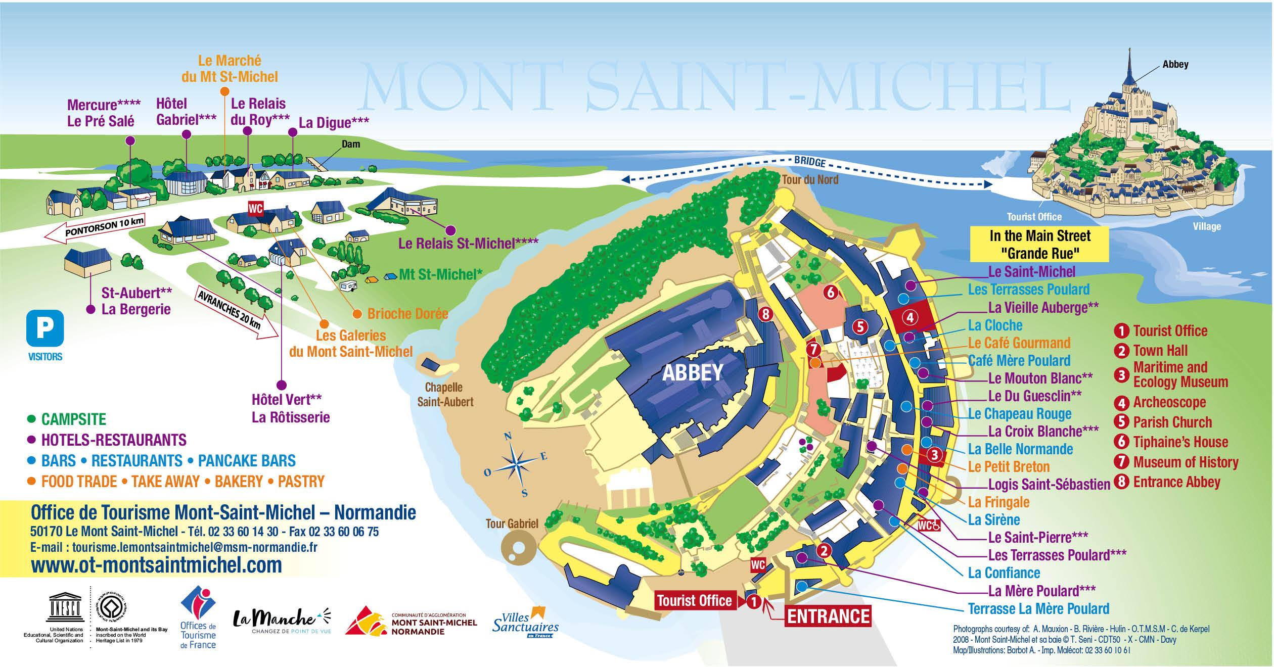 Tourist map of Mont Saint-Michel