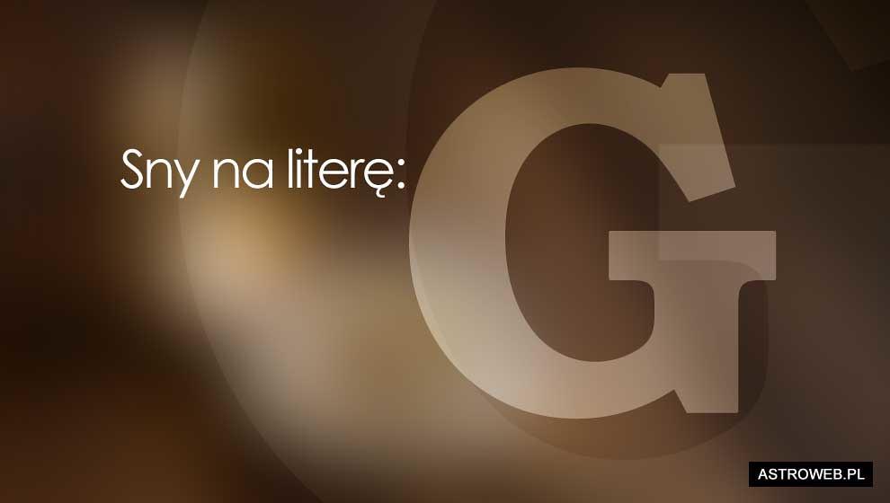 Sennik na G