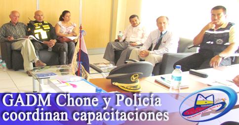 GADM Chone y Policía coordinan capacitaciones
