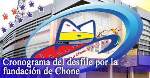 Cronograma del desfile por la fundación de Chone