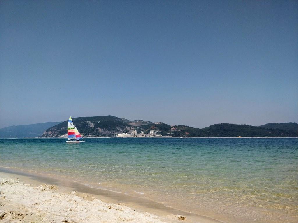 The Troia beach