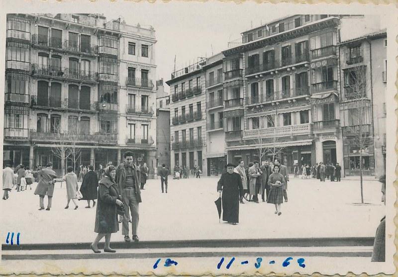 Zocodover en marzo de 1962. Fotografía de Julián C.T.