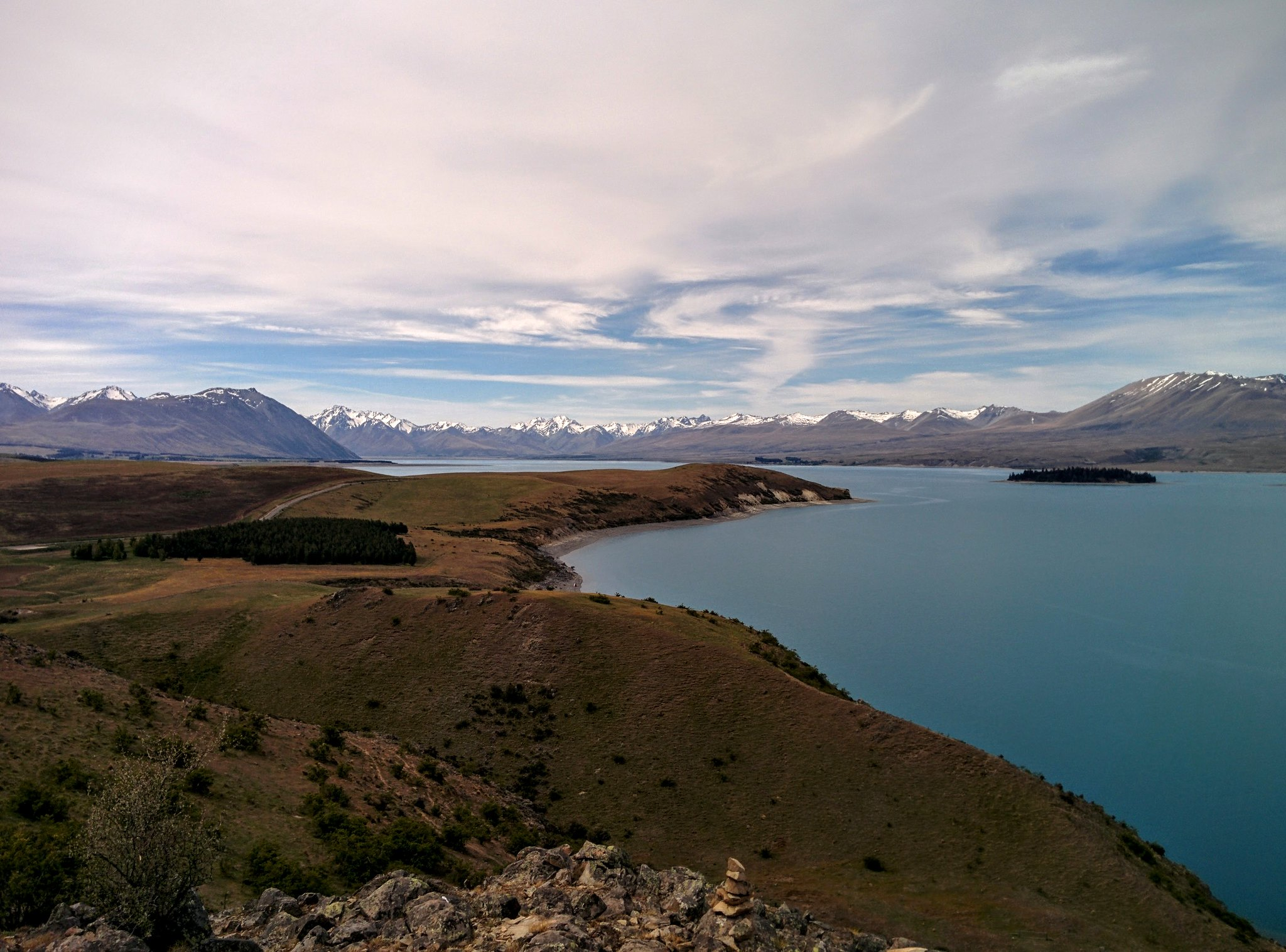 Lake Tekapo from the highpoint of trail