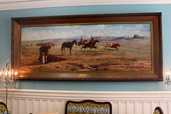 San Antonio - Downtown: The Menger Hotel - Venting Cattle on the Frisco