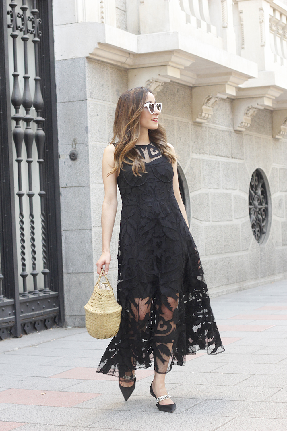 black lace maxi dress summer outfit 2018 13