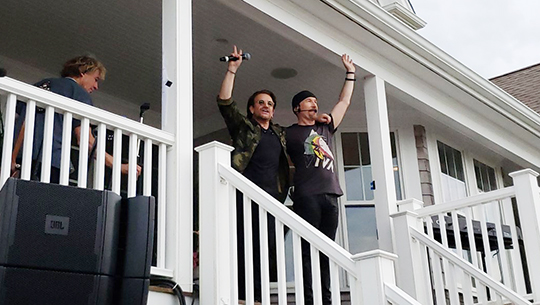 Bono & Edge at Mix Beach House