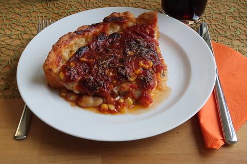 Chicago-Style Deep Dish Pizza (mein Viertel)