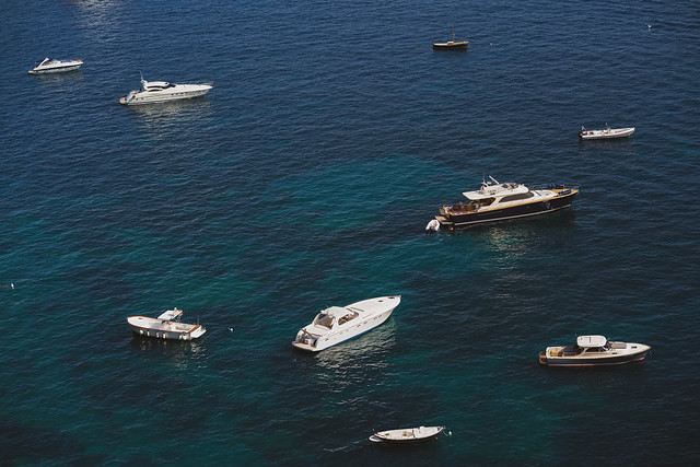 Yachts and Boats on the Amalfi Coast