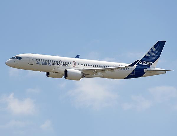 Airbus A220-300 en vuelo (Airbus)