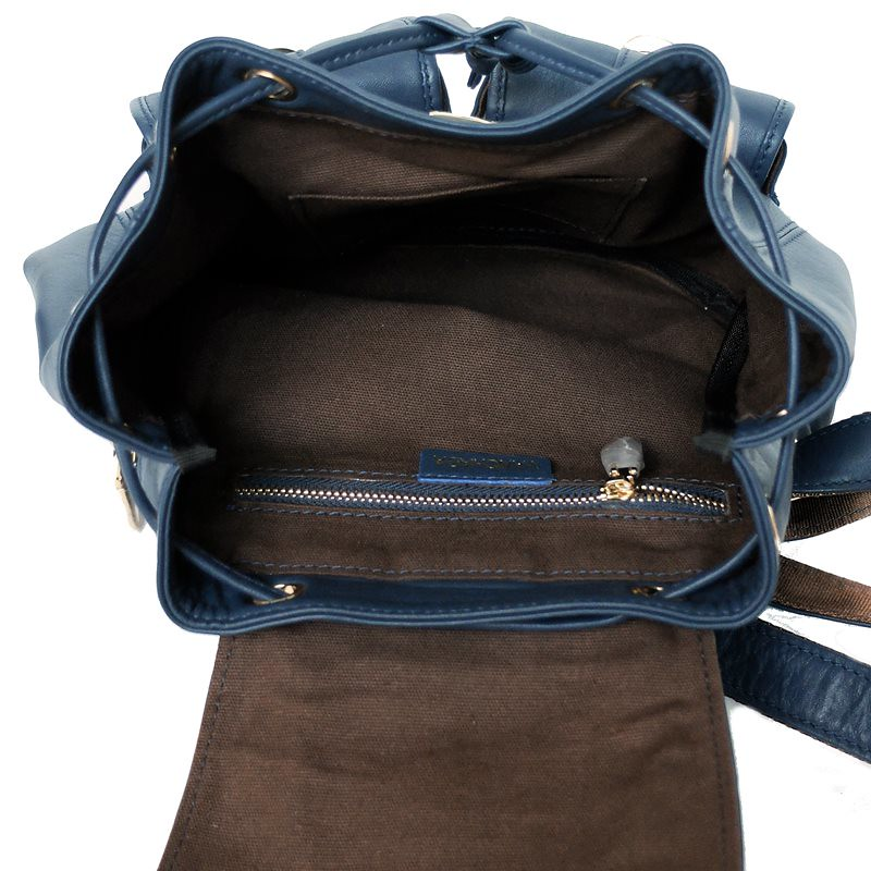 inside mini backpack leather
