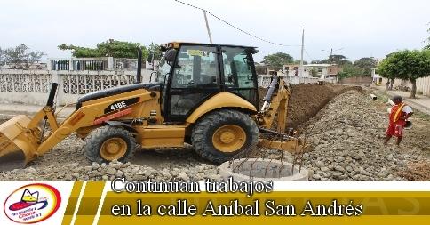 Continúan trabajos en la calle Aníbal San Andrés