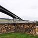 Friarton Bridge and logs DSCF2882