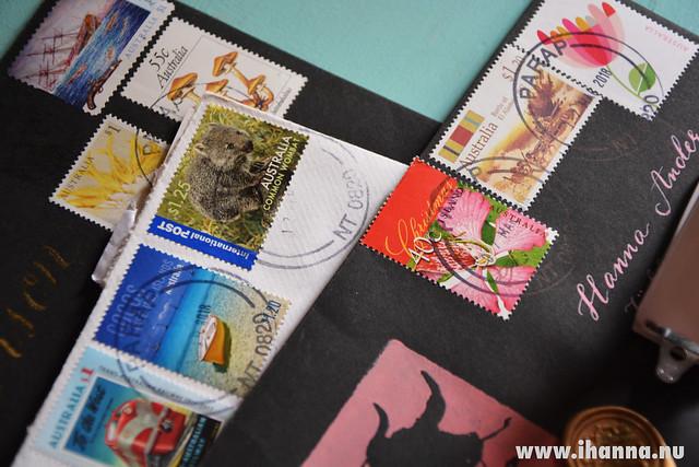 Pretty Australian stamps