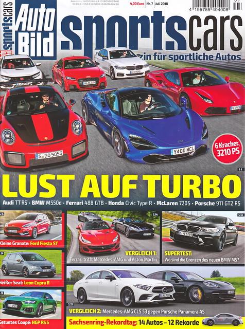 Auto Bild Sportscars 7/2018