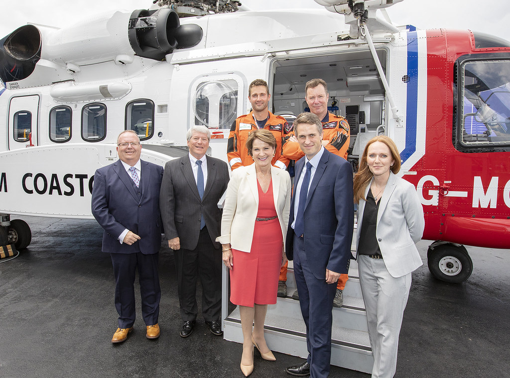 Sec. of State for Defence and HM Coastguard with LM Chief Exec. Marillyn Hewson and team