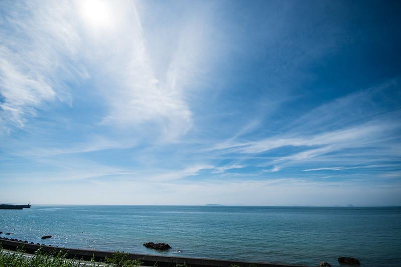 夕やけこやけラインから見える海の景色