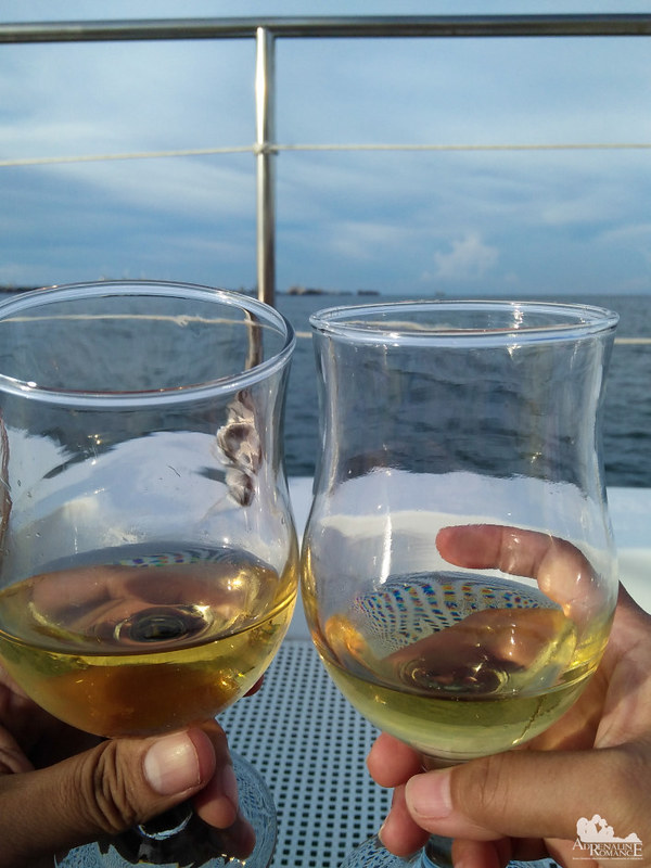 A toast to a romantic cruise