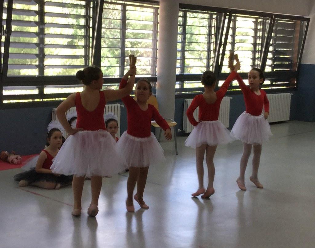 Exhibición de la extraescolar de baile