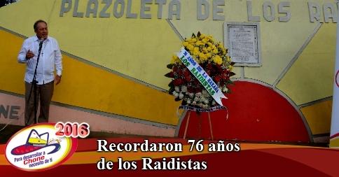 Recordaron 76 años de los Raidistas