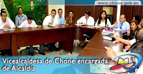 Vicealcaldesa de Chone encargada de Alcaldía