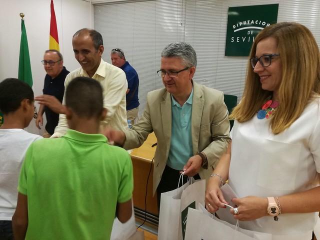 Los niños y niñas saharauis visitan la Diputación de Sevilla