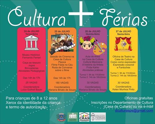 Cultura +ferias programação