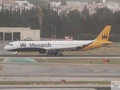 Monarch A321-231 G-ZBAG taxiing at AGP/LEMG