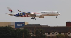 Malaysia Airlines Airbus A350 9M-MAG first visit London Heathrow Airpo