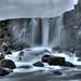 Öxarárfoss waterfall with long exposure