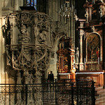 Two Lovers in St. Stephen`s Cathedral in Vienna