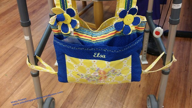 Elsa's walker bag