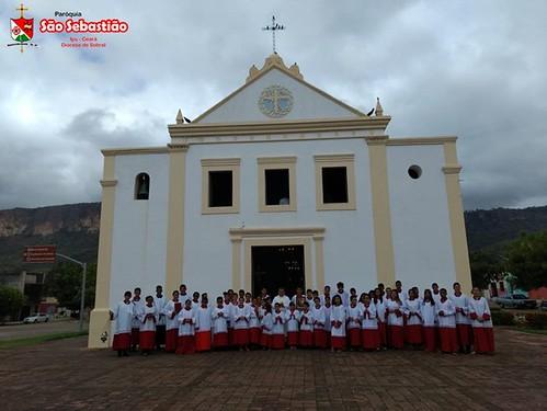 Missa em honra a São Tarcísio e a entronização da Nossa Padroeira