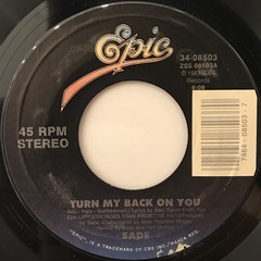 SADE:TURN MY BACK ON YOU(LABEL SIDE-A)