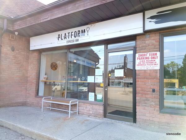 Platform Espresso Bar storefront