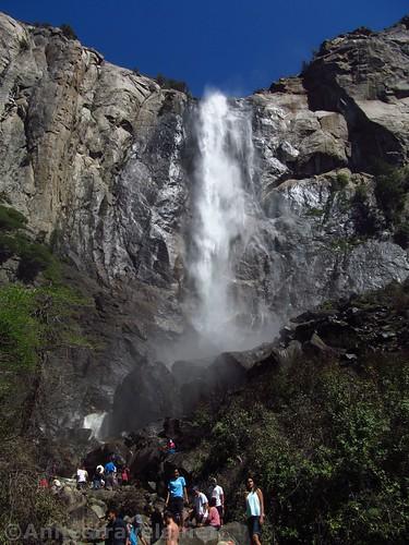 Bridal Veil Falls on 4th of July weekend, Yosemite National Park, California
