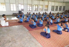 international Yoga day in our school VKV KUPORIJO.