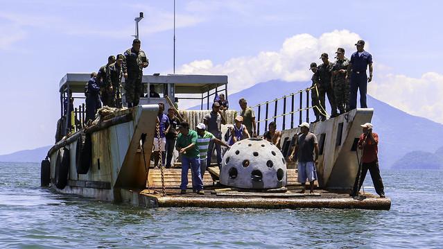 Primer lanzamiento de domos en el Golfo de Fonseca