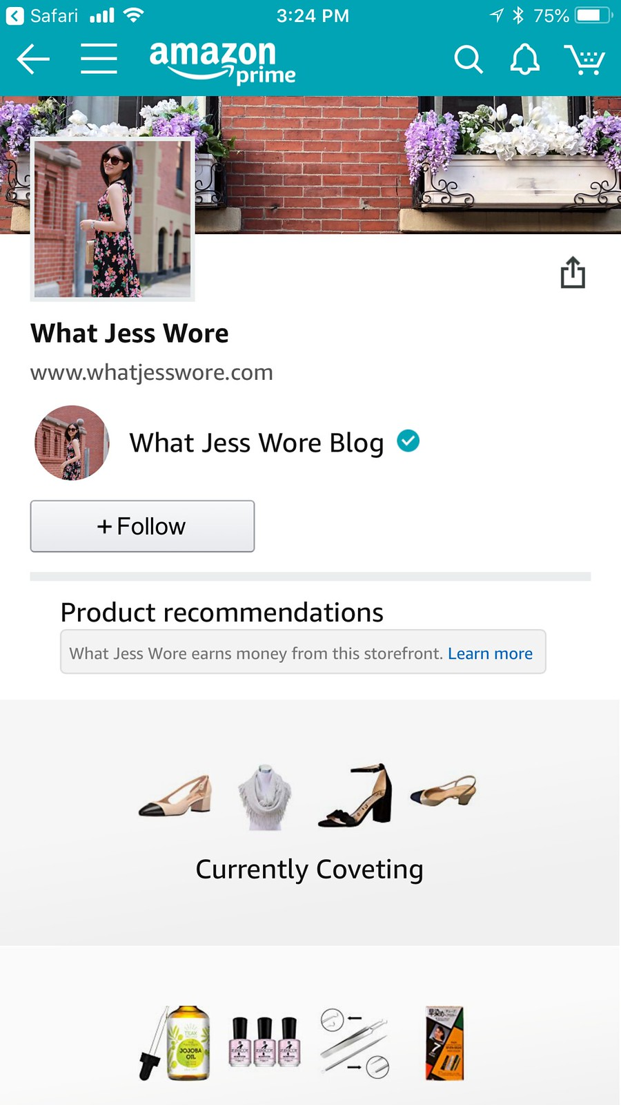 What Jess Wore Amazon Shop