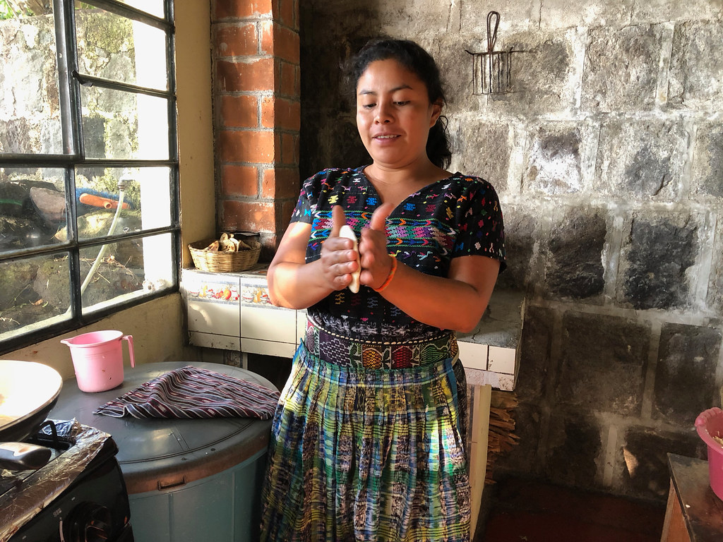 Making tortillas is such a big deal in Guatemala there's a special word for it: tortillando