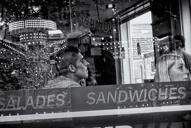 Framed By Salades And Sandwiches